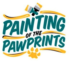 Painting of the Paw Prints New Logo