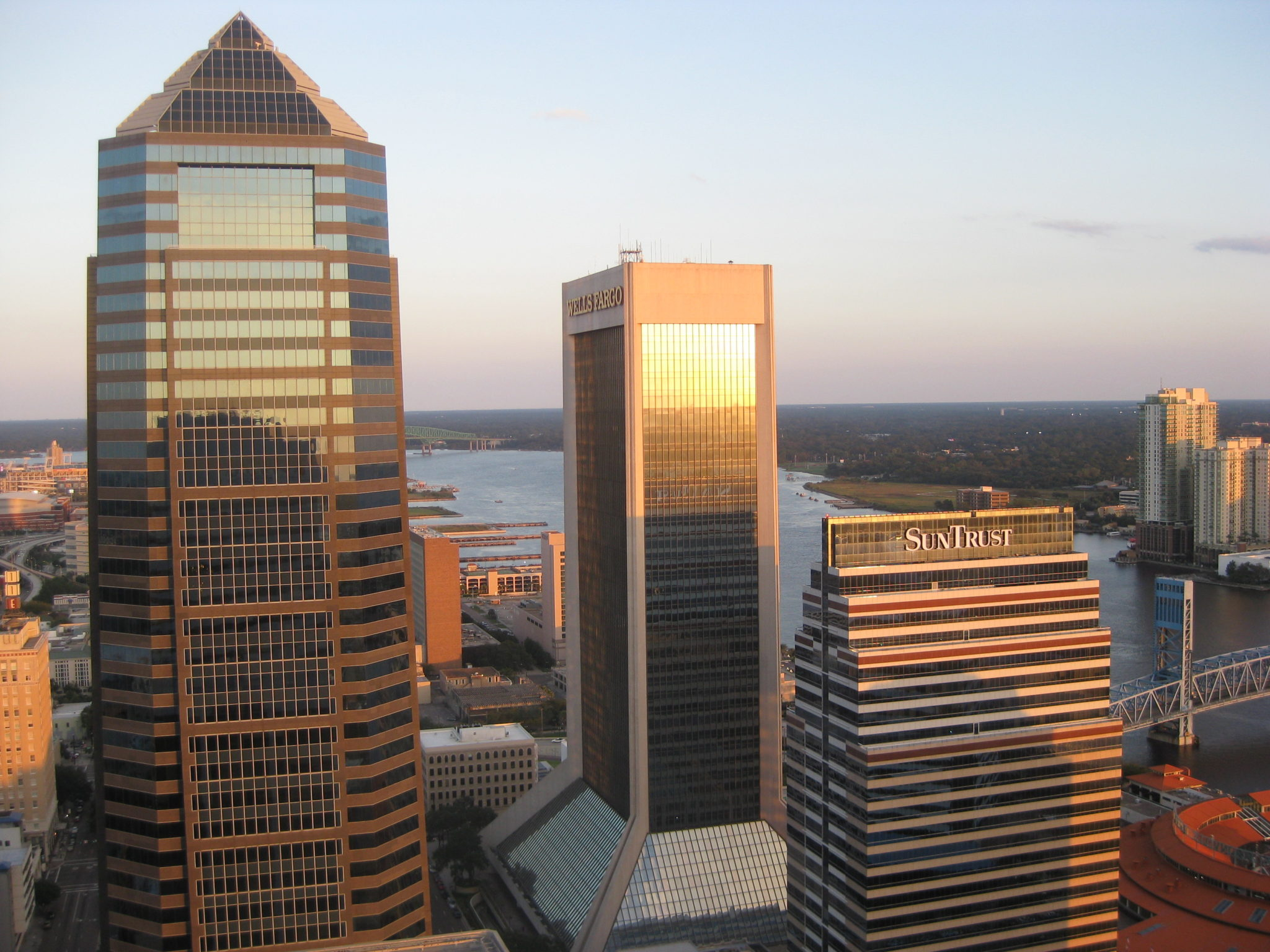 Rooftop View of Jacksonville Skyline